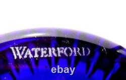 NEW Waterford Crystal Cased Cut to Clear COBALT BLUE Vase 8 New in Box