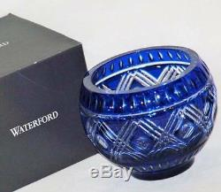 NIBWT Waterford Lead Crystal Cobalt Blue Cased Cut to Clear 6 Bowl