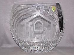 Nativity Bethlehem Copper Wheel Cut Oval Vase Bwl Waterford New Original Box Coa