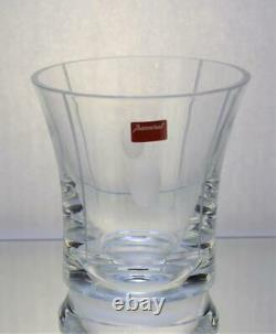 New BACCARAT France Crystal Gray Cut Ovals Vertical TRANQUILITY 5 1/8h Vase