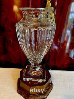 Old Val St Lambert Cut Glass Crystal Vase Urn