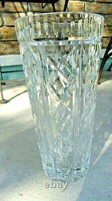 Outstanding! GORGEOUS LARGE WATERFORD CUT CRYSTAL GLASS VASE FINE PATTERN 10