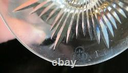 Pair Hawkes American Brilliant Period Cut Crystal 8 Cameo Vases Signed