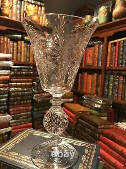 Pairpoint Cut Crystal Vase With Controlled Ball Arkansas Estate Gorgeous