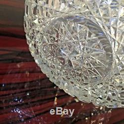 Pairpoint Nevada Rose Globe Vase American Brilliant Cut Glass Crystal