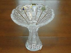 Queen Lace Bohemian Cut Crystal Flared Vase Centerpiece Czech Republic 6