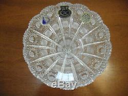 Queen Lace Bohemian Cut Crystal Flared Vase Centerpiece Czech Republic 6
