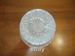 Queen Lace Bohemian Cut Crystal Flared Vase Centerpiece Czech Republic 9