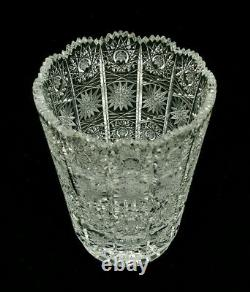 Queens Lace 6 1/4 Cut Crystal Vase Excellent Condition Awesome Detail