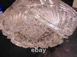 RARE ABP American Brilliant Cut Glass Crystal Vase Dorflinger Tuthill Hawkes