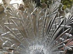 RARE WATERFORD MARITANA 14 Lead Cut CRYSTAL Strawberry VASE SCALLOPED Opera