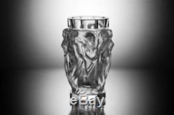 Rare ART DECO Crystal Vintage Vase Czech Bohemian Hand Cut Nude Women Woman Act