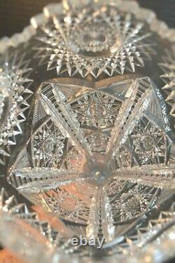 Rare American Brilliant Cut Crystal Glass Vase
