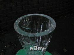 Rare Deep Cut Irish (waterford Crystal Vase) Very Heavy Lots More Look