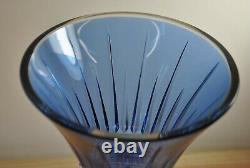 Rare Vintage Waterford Lismore Diamond Pattern Sapphire Cut Crystal Vase