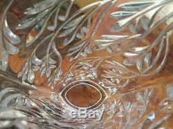 Rogaska Full Lead Crystal Vase 11 Cut Glass Handmade Yugoslavia Vintage