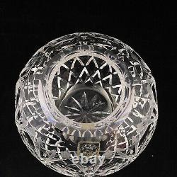 Rogaska Queen Crystal Rose Bowl Cut Vase 4 5/8 Etched Florals
