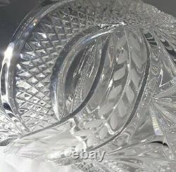 STUNNING RARE Bohemian Czech Vintage Crystal 8.25.38 Thick Tall Vase Hand Cut