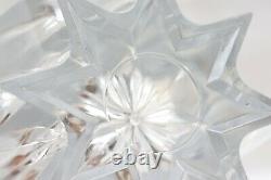 Signed Heavy Crystal Multi Point Star Shaped Cut Glass Dartington Crystal Vase