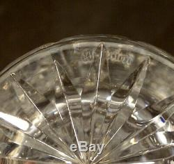 Signed WATERFORD Giftware LEAD CRYSTAL Cut Glass 8 FLOWER VASE / Signed