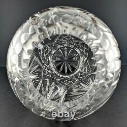 Starburst Pinwheel Pattern Hand Cut Crystal Vase 10