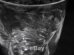 Steuben Crystal 7373-Shape Vase with Marguerite Cut