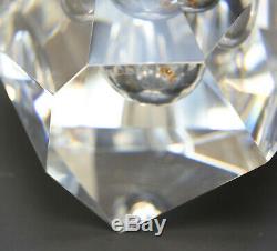 Steuben Diamond Cut Glass Vase by Paul Schulze, 1969. Original Leather Box