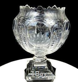 Stevens & Williams Intaglio Cut Crystal Art Nouveau Pond Lilies 7 Vase 1904