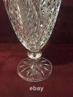 Stunning Large Brilliant Heavy Cut Crystal Footed 11 Vase