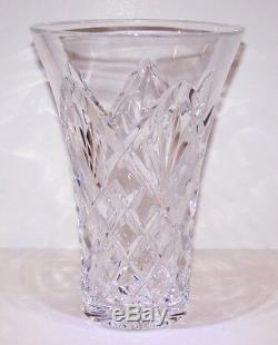 Stunning Signed Waterford Crystal 8 Beautifully Cut Flared Vase