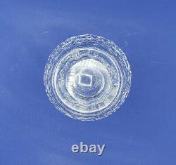 Stunning Waterford Lead Crystal Cut Scalloped Edge Vase 9 Vintage