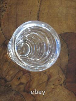 TIFFANY & CO. Emil Brost Signed Cut Crystal Wave Pattern VASE -1998-VINTAGE-RARE