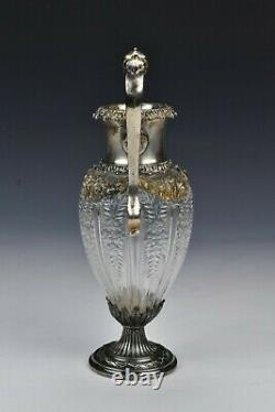 Theodore Starr New York Sterling & Cut Glass Vase