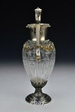 Theodore Starr New York Sterling Silver & Cut Crystal Vase