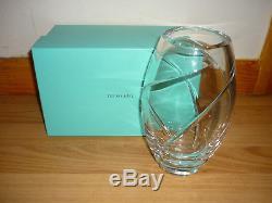 Tiffany & Co. Crystal Swirl Cut Vase