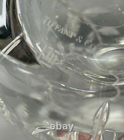 Tiffany Co Cut Crystal 11.5 Glass Vase Leaf Vine Foliate JR Josef Riedel Signed