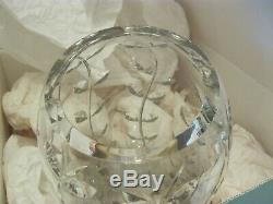 Tiffany & Co. HAND CUT Crystal Floral Vine Large Tall 13 Vase Excellent