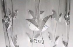 Tiffany & Co. Hand-Cut Crystal Floral Vine Vase 11 gull-wing rim Josef Riedel