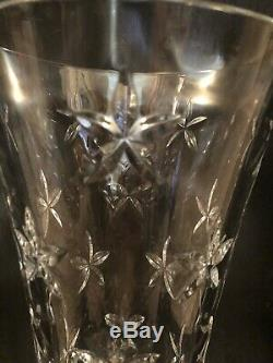 Tiffany & Co. Large Crystal Glass Star Cut Flower Vase-11 1/2 x 6 1/4