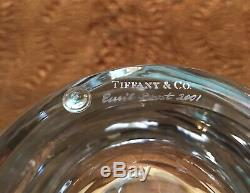 Tiffany & Co Wave Cut 12 Crystal Centerpiece Vase 2001 Signed Emil Frost