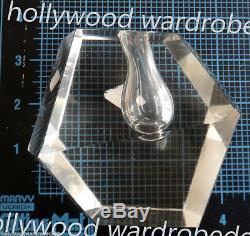 Timo Sarpaneva Crystal vtg ORCHID vase modern mid century glass mcm diamond cut