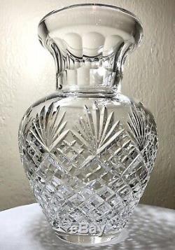 Towle Czech Republic Hand Cut Lead Crystal Corset Urn Pineapple Fan Vase 10