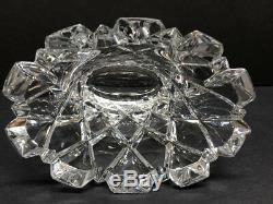 VTG Orrefors Crystal Flower Vase Diamond Cut Made in Sweden Signed 4 LB 6.25 H