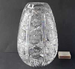 Vase Crystal Glass Hand Cut um 1950 1960 M473