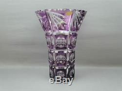 Vase cristal taillé cristallerie montbronn cut crystal vintage design 50-60
