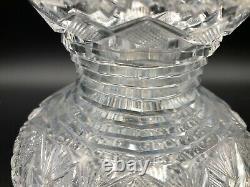Vintage ABP American Brilliant Period Cut Crystal Vase, 5 1/4 Tall, 6 Widest