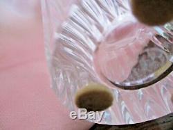 Vintage BACCARAT 4 1/4 Posy/Bud/Flower VASE Cut Crystal Facets SIGNED - Mint