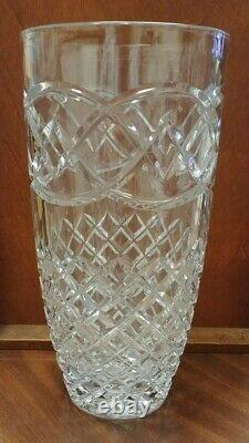 Vintage Beautiful Galway Irish Cut Lead Crystal Vase 12