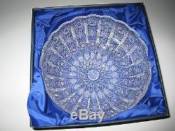 Vintage Bohemia Hand Cut 24% Lead Crystal Round Bowl 9 Mint Nib
