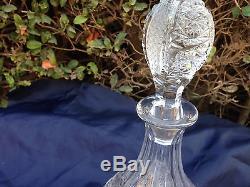 Vintage Bohemia Hand Cut 24% Lead Crystal Wine Decanter 0.55 Liter Mint Nib
